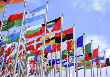 intern在ional flags